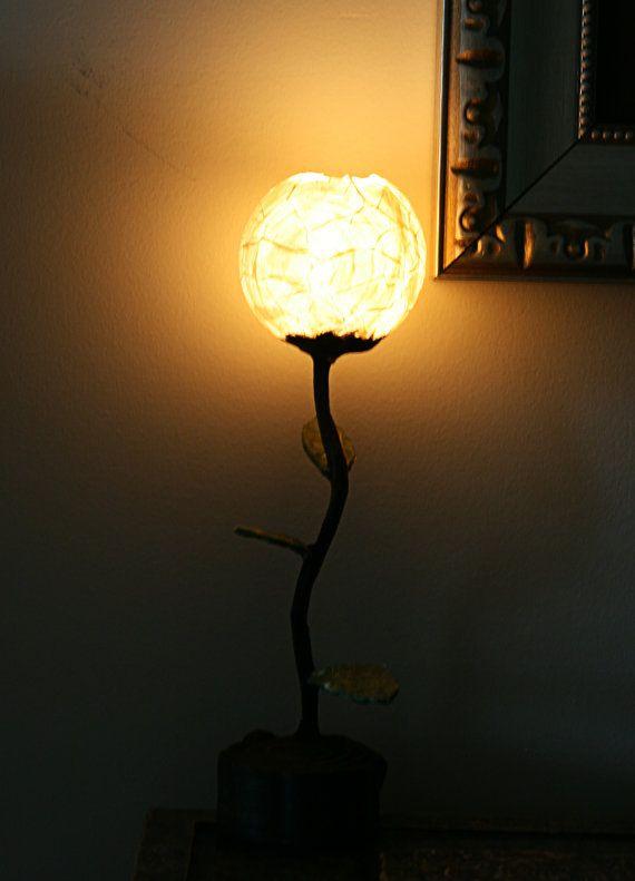 Fancy Custom Hanji Small Desk Lamp Moonlight bulbs by HanjiLight