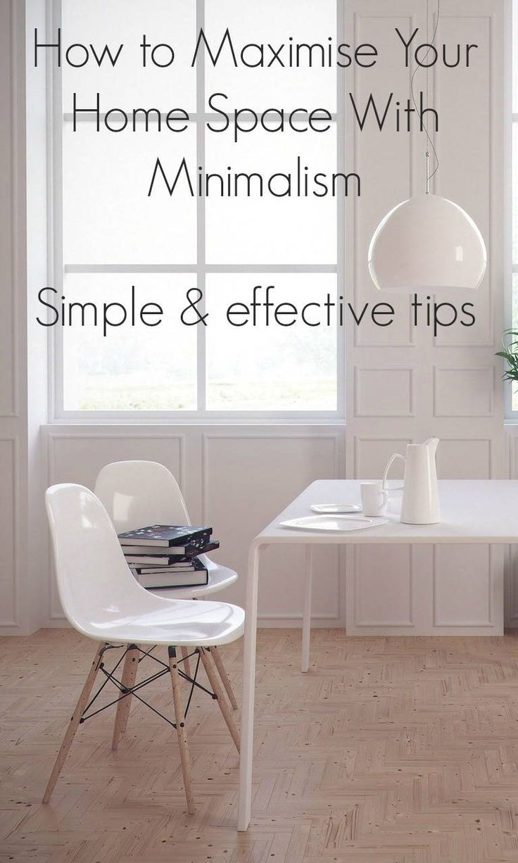 Maximise Your Home Space With Minimialist interior design and create space and a feeling of peace and serentity in your home with these simple design tips based on minimlaism #interiordesign2018 #Minimalism #minimlaistdesign