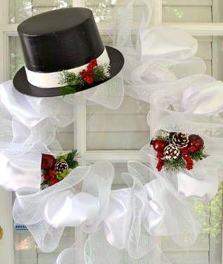 http://www.pinterest.com/stephaniejoanna/wreaths/ deco mesh wreaths   Festive Frosty Deco Mesh Wreath for Sale in Augusta, Georgia ...