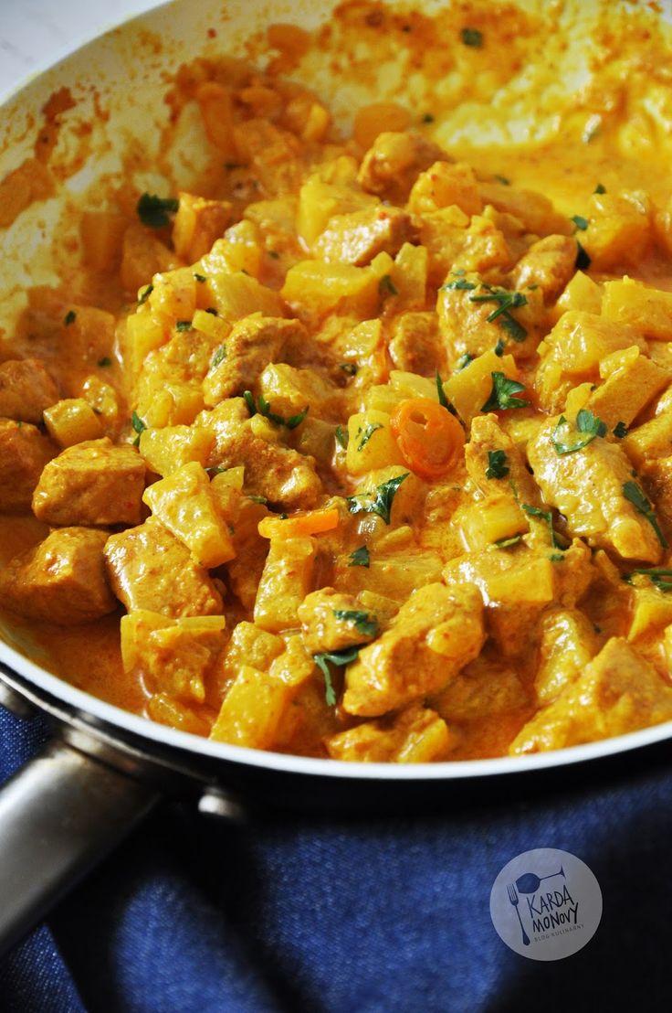 Kardamonovy: Curry z kurczakiem i ananasem