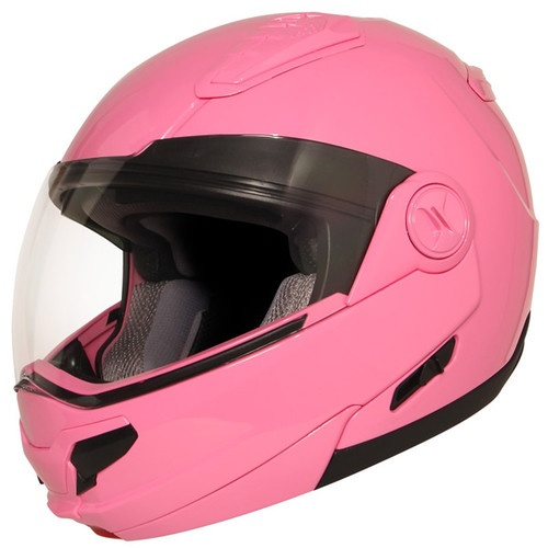 Modular Dual Visor Solid Pink Full Face Womens Dot Motorcycle Helmet Hawk New niiiiice