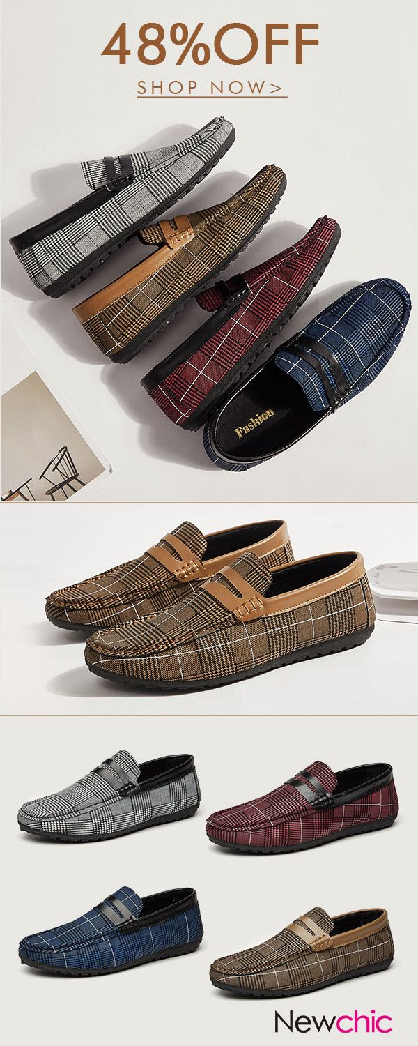 US25.61Men Stylish Canvas Low Top Slip Ons Casual Loafers#shoes #menswear #loafers
