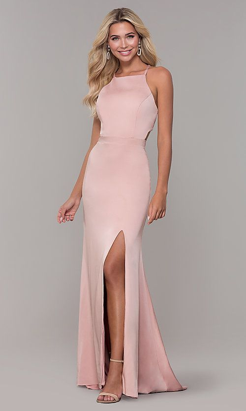 c30b7c894 Long High-Neck Prom Dress by Dave and Johnny in 2019 | PROM 2019 ...