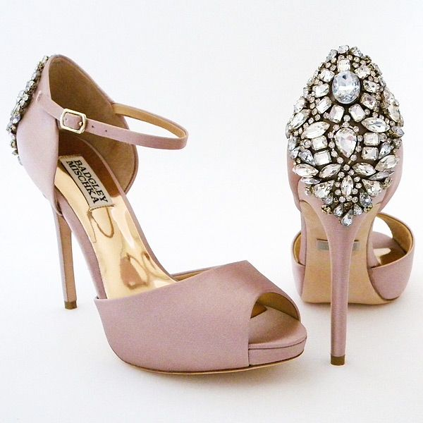 A favorite has returned better than ever! Dawn offers vintage glam at it's best in a fabulous blush shade that works all year around. Designed by Badgley Mischka. also avail. in ivory