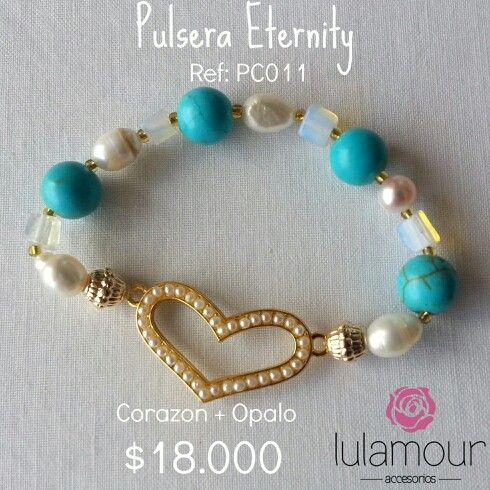 Eternity bracelet. Pearls, opal, turquoise, 18k gold. More on @lulamourr on instagram And Lulamour Accesorios on Facebook