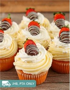 Confectionary Cakes and Cupcakes: Strawberries and Cream Cupcakes!