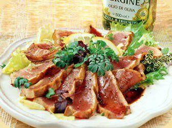 Gegrilde tonijn met balsamicoazijn recept - Vis - Eten Gerechten - Recepten Vandaag