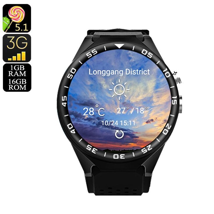 ZGPAX S99C Android Watch - Bluetooth 4.0, WiFi, 3G, 1 IMEI, Mic And Speakers, Pedometer, 5MP Camera, Quad-Core CPU - The ZGPAX S99C Smart Watch Phone features one IMEI number and runs on an Android operating system.