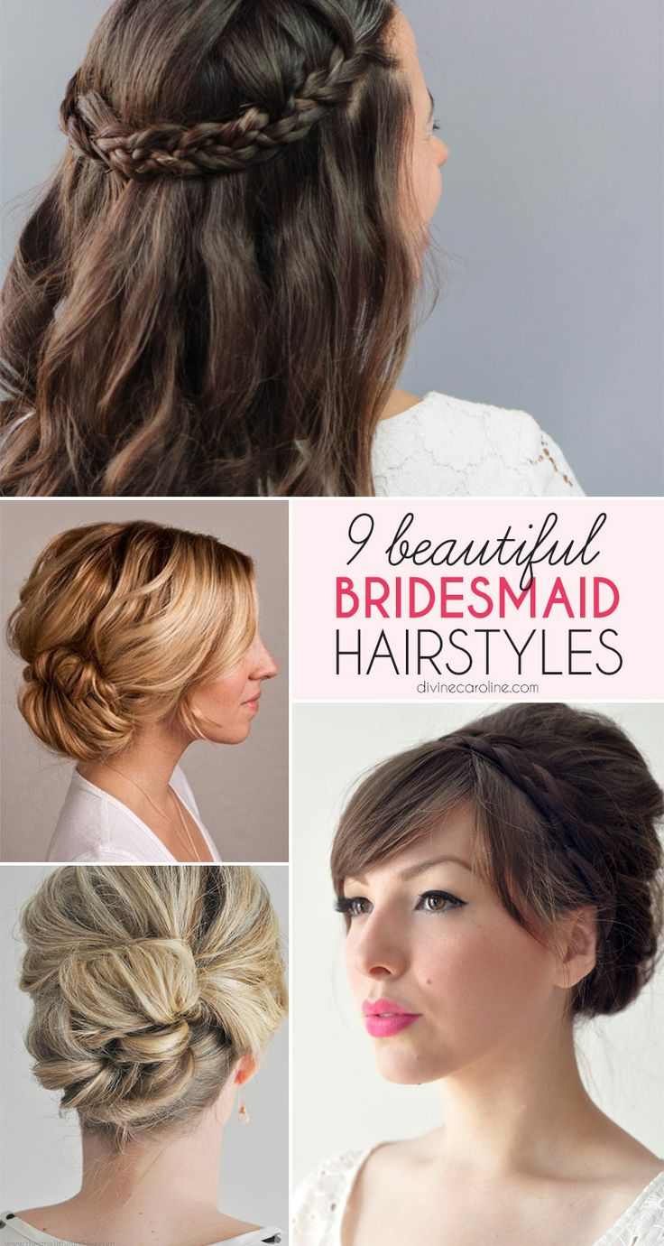 Keep wedding day stress free for your bride by planning your bridesmaid hairstyle in advance! We looked all over for some of the most elegant bridesmaid looks. See them here. #bridesmaidhair #bridesmaid #hair #updo