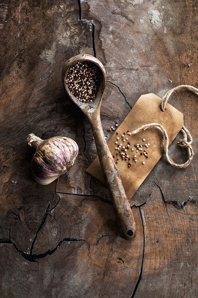 quinoa + garlic | food photography