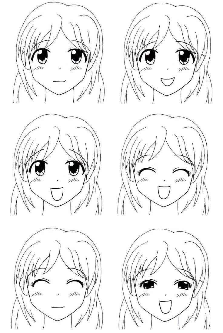 Tutoriel manga les expressions faciales des femmes
