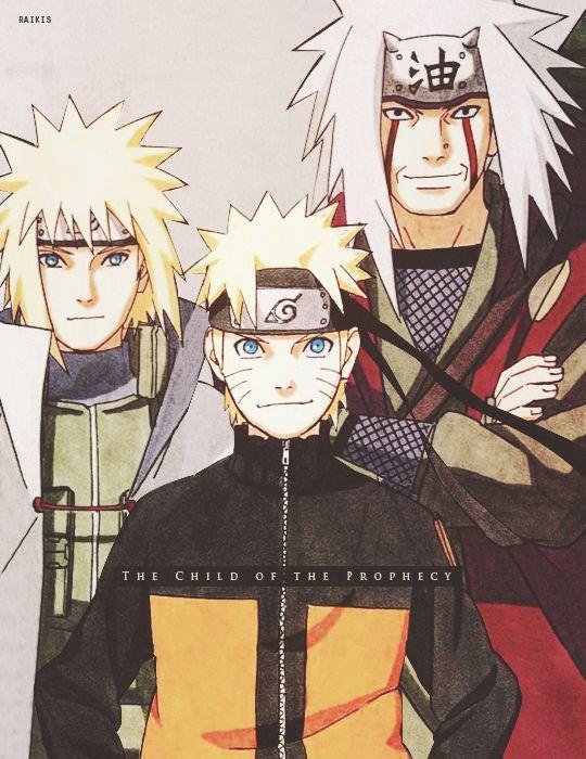 <3 Minato, Naruto & Jiraiya - by raikis, tumblr