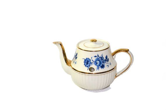 Arthur Wood Teapot Ceramic Porcelain Teapot Blue & White