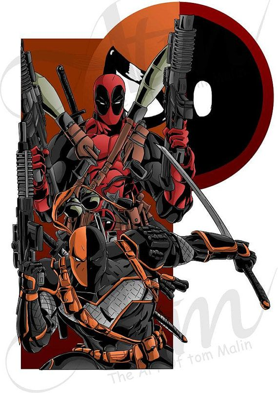 Merc Deadpool deathstroke team Up