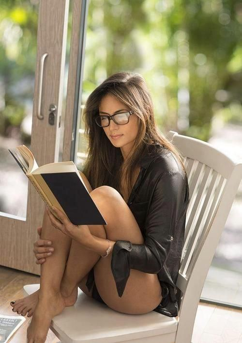 reading is a favorite pastime: Girls, Reading, Sexy, Glasses, Beautiful, Book, Beauty, Women, Photo