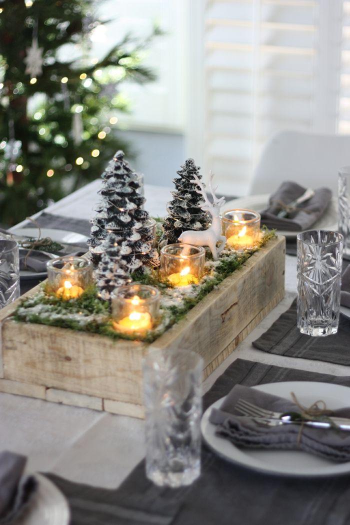 ▷ 1001 + variantes ingénieuses de la déco de table pour Noël ...