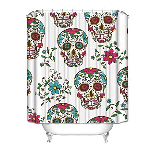 HGOD Designs Art White Shower Curtain, Skull And Daisy Ge... https://www.amazon.ca/dp/B01KFJFSBQ/ref=cm_sw_r_pi_dp_x_tnDdAb46G15EB
