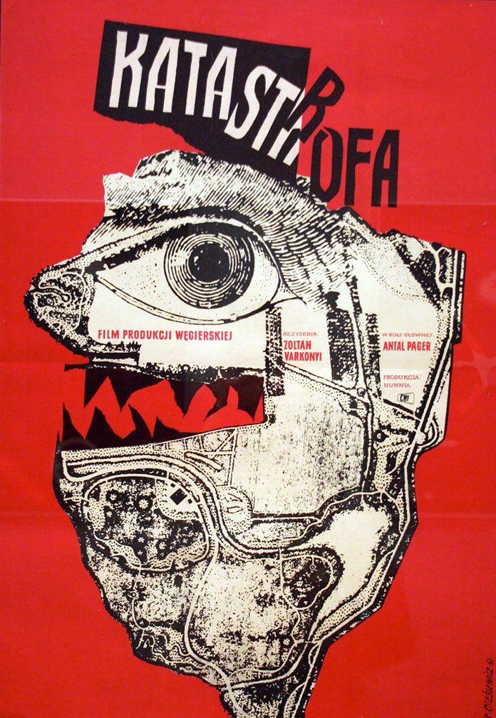 POLOGNE (expressivité,subjectivité)  - Roman Cieslewicz - affiche Katastrofa (1961)