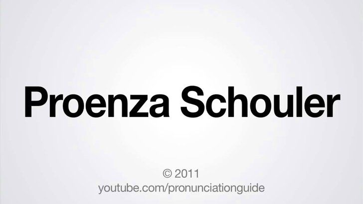 Pin for Later: How to Really Pronounce Those Confusing Fashion Designer Names How to Pronounce Proenza Schouler Incorrectly