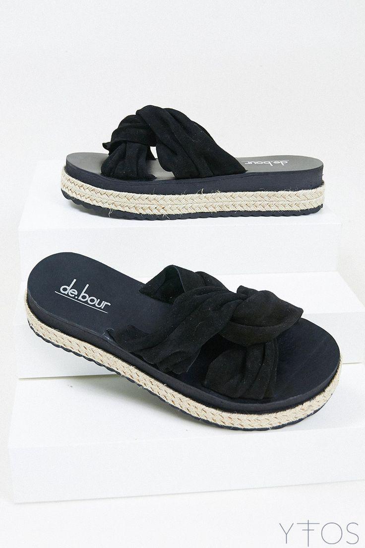 Yfos Online Shop | Shoes | Wrinkled knot Sandals by De.bour