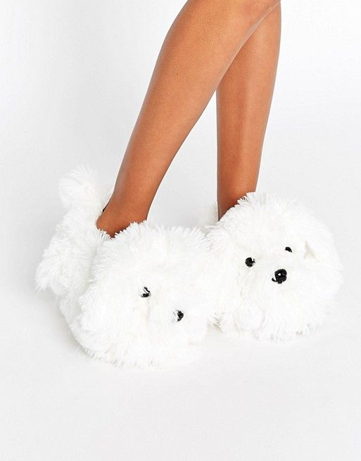 New Look | New Look Shaggy Dog Slipper