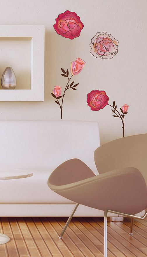 Les roses wall decal set house decorum wish list pinterest for Decor and decorum