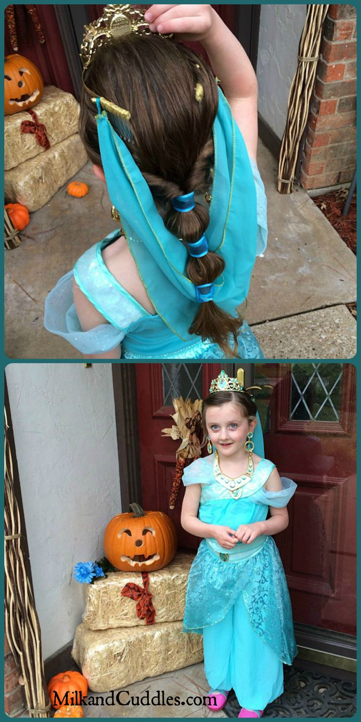 Princess Jasmine Costume  Hair Style for Young Girls!