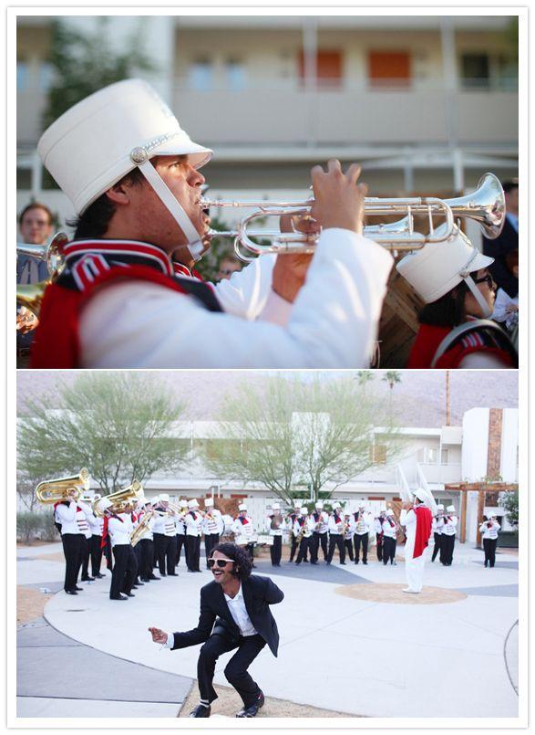 Color guard wedding