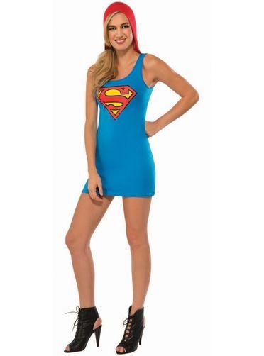 Robe costume à capuche Supergirl femme