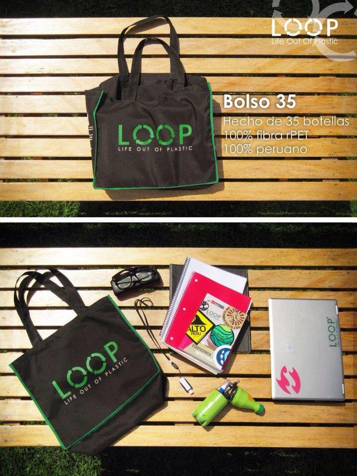 ¡Bolso L.O.O.P para ir a clases! #Recycling