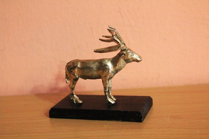 Vintage Brass Metal Deer Figurine Pater Davidshert Wereld Natuur Fonds Statue Holiday Christmas Decor by Grandchildattic on Etsy