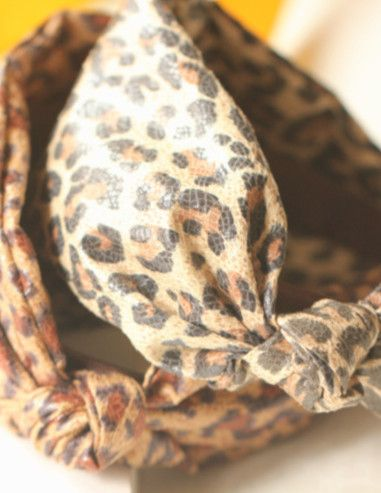 Leopard Pattern Knot Hair Clasp_Headwear_Accessories_Digbabies