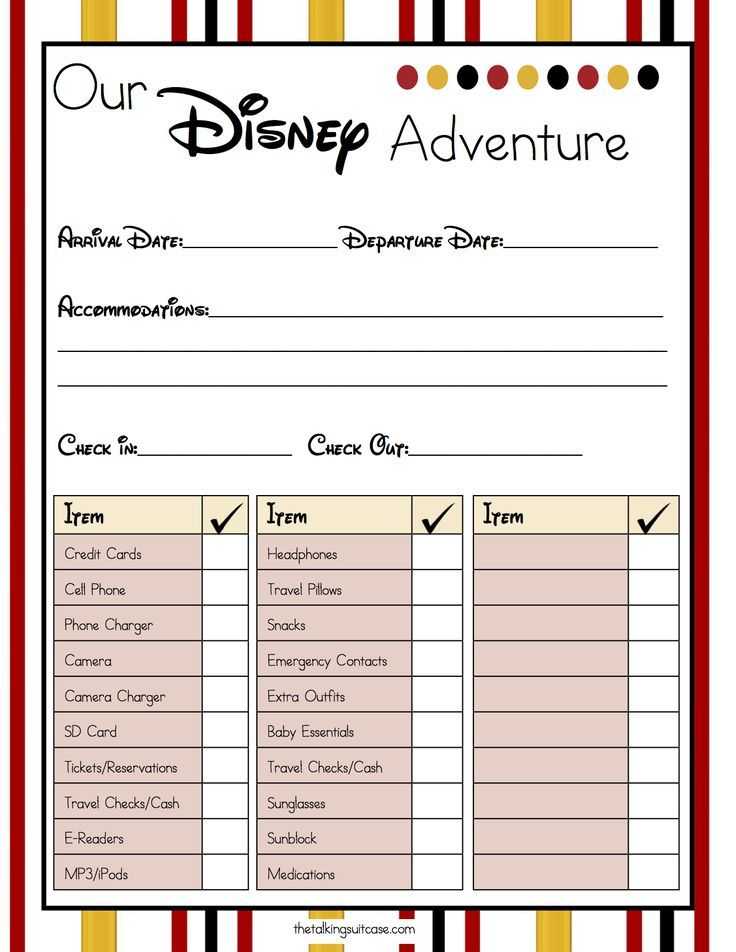 Are You Planning A Trip To The Happiest Place On Earth Print Our Free Printable Disney Vac Disney Planning Printables Disney Vacation Planner Vacation Planner
