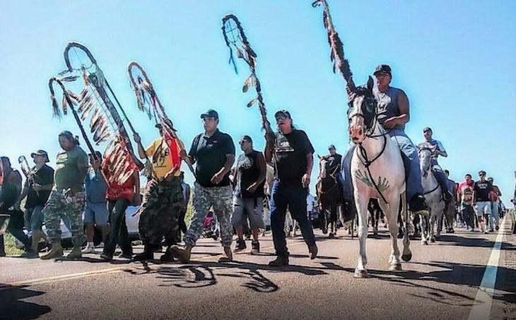 As the Lakota Sioux continue their peaceful blockade of the $3.8 billion Dakota…