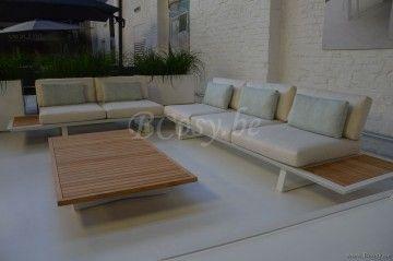 Gescova deauville napoli modulaire wit aluminium buitentuin outdoor