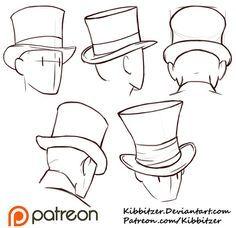 Top Hats Reference Sheet by Kibbitzer.deviantart.com on @DeviantArt