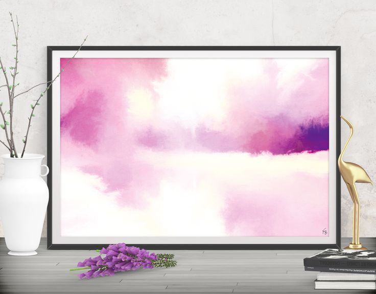 Bring comfort and light to your open space! Pink abstract canvas - Printables by FraBorArt. #downloadable #printable #affordable #etsy #art #fraborart