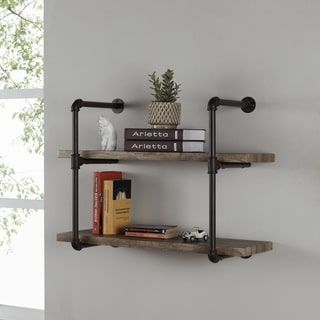 Shop for Danya B. Two-tier Industrial Pipe Wall Shelf. Get free shipping at Overstock.com - Your Online Home Decor Outlet Store! Get 5% in rewards with Club O! - 22741726