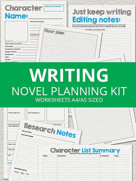 Ultimate Novel Planning Kit - Printable Writing Worksheets