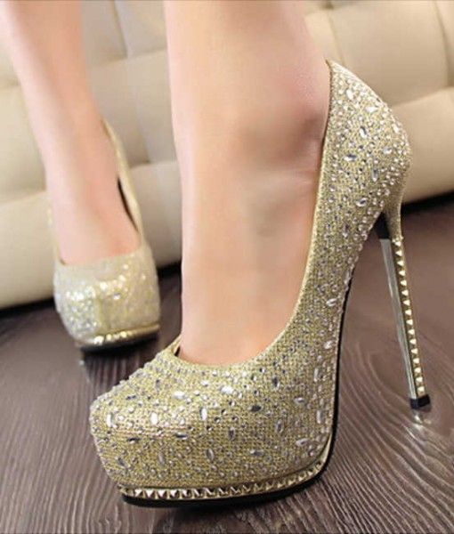 pantofi toc metal aurii (1)
