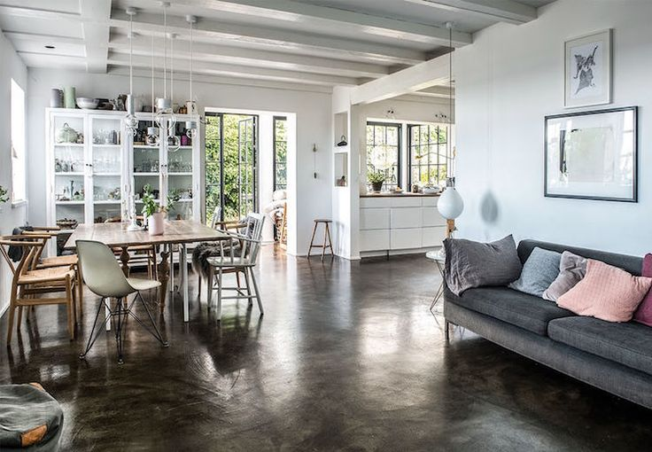 my scandinavian home: Epoxy concrete floor in a dream Danish house by the sea (click pic for full tour of the house).