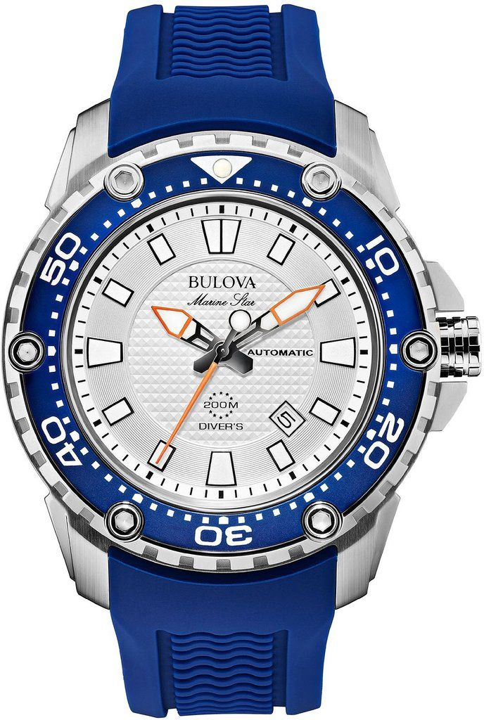 @bulova Watch Marine Star #bezel-fixed #bracelet-strap-rubber #brand-bulova #bulova-core-line #case-material-steel #case-width-47mm #date-yes #delivery-timescale-4-7-days #dial-colour-silver #fashion #gender-mens #movement-automatic #official-stockist-for-bulova-watches #packaging-bulova-watch-packaging #style-sports #subcat-marine-star #supplier-model-no-98b208 #warranty-bulova-official-3-year-guarantee #water-resistant-200m
