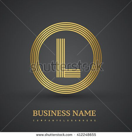 Elegant gold letter symbol. Letter L logo design. Vector logo design template elements  for company identity. - stock vector