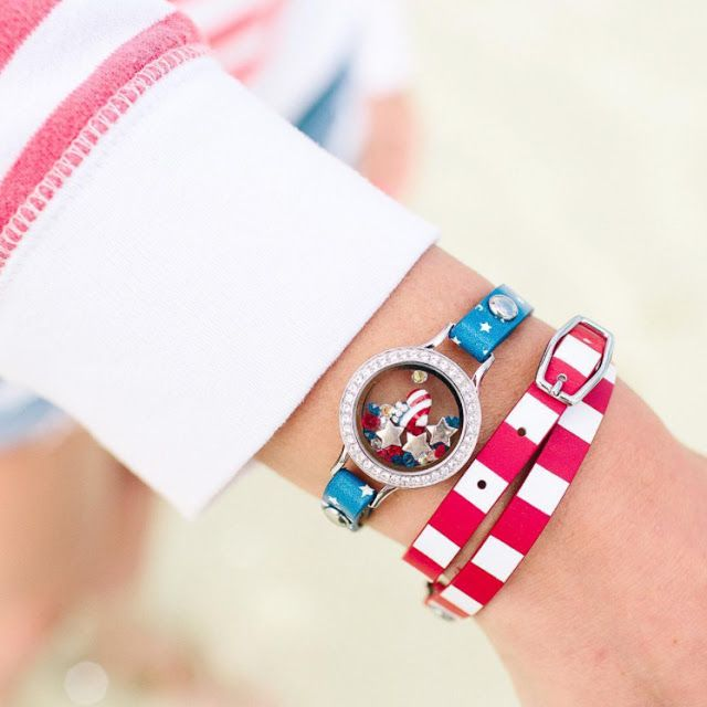 Red, white, blue - stars and stripes - these leather wrap bracelets are so YOU! Show off your patriotic style Memorial Day, the 4th of July or any day! Origami Owl Patriotic Leather Wrap Bracelets available at StoriedCharms.com