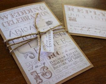 Poctet Fold Wedding InvitationBlush Wedding di CCPrintsbyTabitha