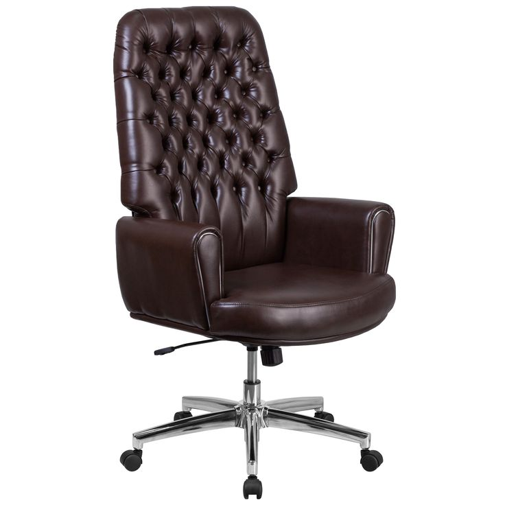 harith high back leather executive chair desk good posture best 25+ brown office ideas on pinterest | chairs, club ...