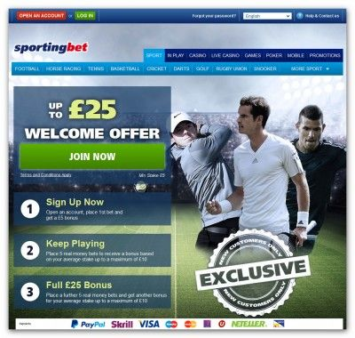 offer sporting bet welcome