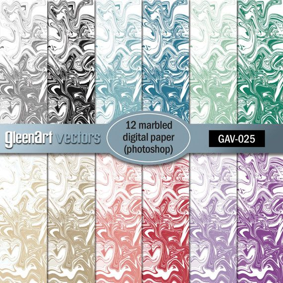 Marbled Papers Digital  12 Marble Printable by GleenArt on Etsy