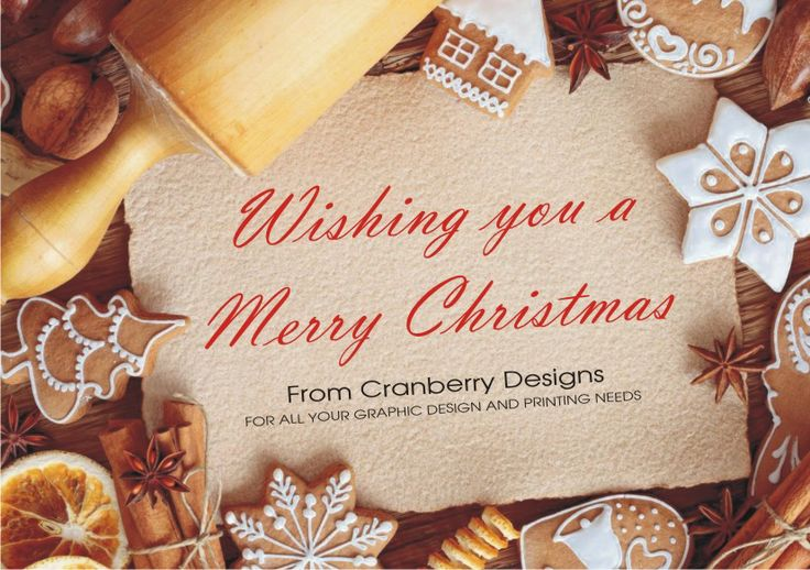 Wishing you and your families a Merry Christmas from Cranberry Designs