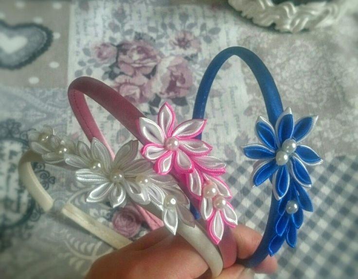Cerchietti personalizzati kanzashi flowers